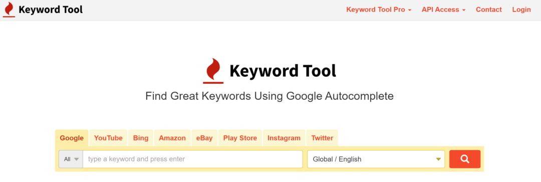 Keyword Tool工具